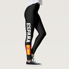 #Spanish flag leggings for fitness sports workout - #country gifts style diy gift ideas