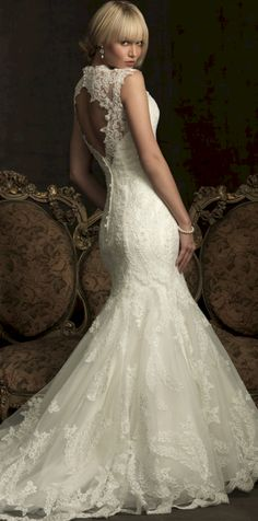 Cool 25+ Best Open Back Lace Wedding Dress Ideas  https://oosile.com/25-best-open-back-lace-wedding-dress-ideas-15367
