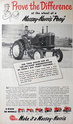 "1950 Massey-Harris ""Pony"" Tractor Ad"