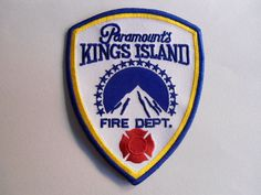 PARAMOUNT'S KINGS ISLAND FIRE DEPARTMENT PATCH, OHIO, USA, FIRE CREST