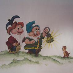 back from work.. #dwarfs #biancaneve