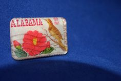 Vintage Alabama 6 cent Stamp Brooch Pin by JewelReMotion on Etsy, $15.99