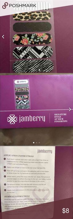 Jamberry nail wraps 6 nail wraps variety pack. Usually 1 full sheet (18 individual wraps) are $15. If you disagree with listing price then get it from somewhere else, no need to leave ignorant unnecessary comments about how it's cheaper somewhere else, it's rude. Open to offers, comment with any questions. Jamberry Other