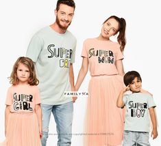 Super Family Outfit, Matching Family Set, Family Tees, Family Tshirts Set, Comfy Outfit, Family Lounge Set, Super Girl/Boy, Fathers Day Gift Family Tees, Matches Fashion, Matching Family Outfits, Mommy And Me, Supergirl, Fathers Day Gifts, First Love, Size Chart, Comfy Outfit
