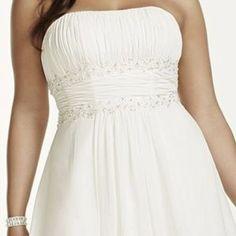 I just added this to my closet on Poshmark: Chiffon Empire Waist Ivory Wedding Dress. Price: $125 Size: 20