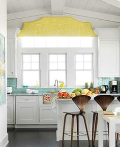 love the colors - great counter top and valance