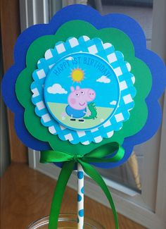 NEW  George Pig Centerpiece 3 Layer Peppa Pig by mlf465 on Etsy