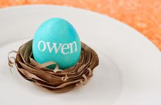 egg stand place setting...how to...