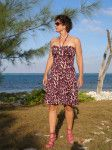 Easy dress pattern - the Easy Summer Dress.  Free multi-size pattern and step by step photo tutorial from So Sew Easy.