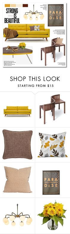 """""""the moment"""" by limass on Polyvore featuring interior, interiors, interior design, home, home decor, interior decorating, Thrive, Fresh American, Dot & Bo and Nearly Natural"""