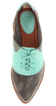 Mint saddle shoes / Frye