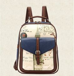 418c1c774fe DIDA BEAR Womens PU Leather Backpack Girls School Bags for Teenagers ladies  Print bag mochila feminina Sac A Dos Black Brown