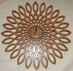 """OROLOGIO PARETE KARLSSON """"SUNFLOWER"""" In legno mdf!Misure cm 40 diametro!!!Old Style!!Nota la Lavorazione!!!!"""