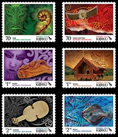 When the star cluster known as Matariki appears in the night sky it signals the Maori New Year and a time of new beginnings. The Matariki 2013 stamp issue by New Zealand Art, French Collection, Maori Art, Kiwiana, Star Cluster, Fun Hobbies, Stamp Collecting, New Beginnings, Artist Art