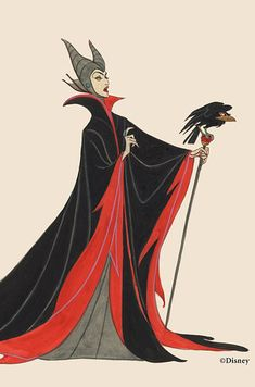 """The evolution of Maleficent's design. 