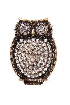 I love owl rings!