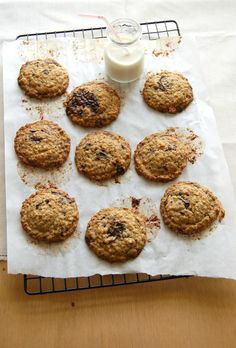 cookies de quinoa e chocolate
