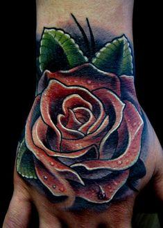 - Worlds Best Tattoos : Tattoos : Realistic : Poppy Rose hand tattoo Hand Tattoos, Rose Hand Tattoo, Knuckle Tattoos, 1 Tattoo, Finger Tattoos, Rose Tattoos, Tatoos, Lace Tattoo, Tattoo Life