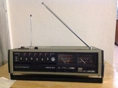 Vintage GE 2 2 FM Am PS VHF PS UHF Tunable Scanner Radio Receiver | eBay