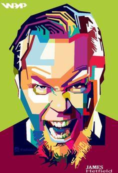 My artwork Wpap James Hetfield .. #wpap #popart #artwork #andreallabar #coreldraw #jameshetfiel #fanart #gallery