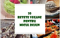 20 retete vegane pentru micul dejun | Retetele mele dragi Vegan Recipes, Cooking Recipes, Raw Vegan, Vegan Food, I Foods, Food And Drink, Bread, Vegetables, Breakfast