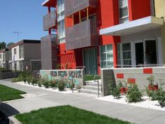 """2004 – """"Fiesta House Senior Housing Apartments"""" Reseda, CA – Built by Alpha Construction, Inc. – Superintendent: Phil Logan - Front side view"""
