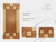 Handmade wooden door_code: Bucharest / by Georfiadis furnitures #handmade #wooden #door #marqueterie