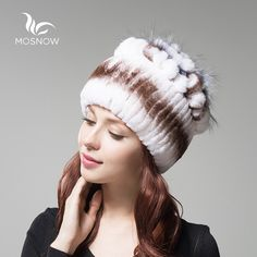 Aliexpress.com : Buy MOSNOW 2016 Rex Rabbit Fur Winter Hats Female For Women Vintage Flower Top Casual Solid Knitted Caps Skullies Beanies  from Reliable hat panama suppliers on Mosnow Fur Store