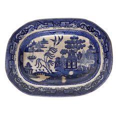 Wedgwood Glazed Porcelain Platter with Chinese Landscape