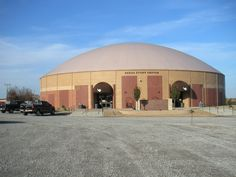 Beggs, OK Event Center — Beggs built two Monolithic Domes: A 160' diameter gymnasium/event center built on a 24' Orion wall; a 112' diameter dome on a 12' Orion wall that provides nine additional classrooms, offices and a student commons area.
