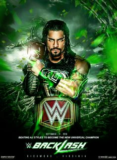 Roman Reigns Universal Champion Backlash 2016 by workoutf.deviantart.com on…