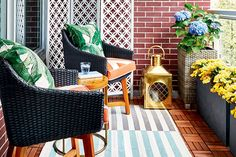 8 easy ways to update your balcony—Make your small outdoor space shine with these helpful tips and tricks.