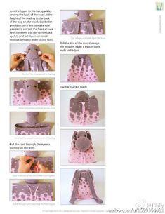 Картинки по запросу mochila de crochê infantil hipopotamo