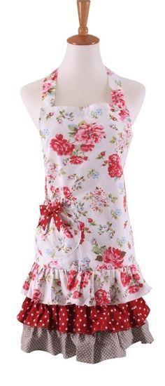 8 Bridal Shower Aprons ~ Floral Rose (SALE: $10.99)