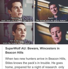 2/2 Stiles goes to the Winchesters to negotiate