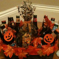 Octoberfest beer basket for jack and Jill raffles