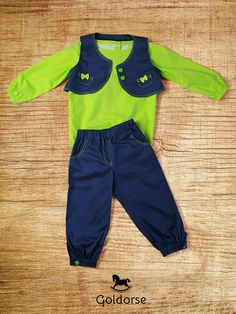 Funy Green Spring. Our handmade clothing for kid. $40