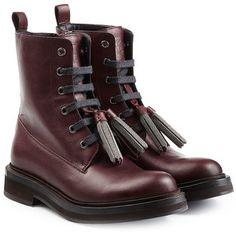 Brunello Cucinelli Leather Boots
