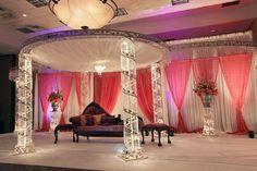 stage decor lights n flowers