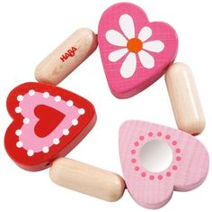 10 Things to Do With the Baby On #ValentinesDay - #4 is Have Fun! {with this adorable heart rattle from HABA}