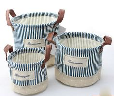 Hey, j'ai trouvé ce super article sur Etsy, chez http://www.etsy.com/listing/153067984/3pc-blue-strip-cotton-linen-storage