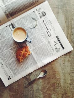 Coffee, bites and newspaper can never go wrong.