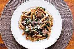 Pasta with Steak and Spinach | girlgonegourmet.com
