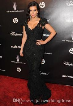 Cheap Evening Dress 2014 - Discount New Sexy Evening Gowns Kim Kardashian 2012 Golden Online with $117.17/Piece   DHgate