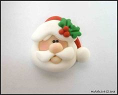 *POLYMER CLAY ~ Bead or Bow Center Traditional Santa Claus