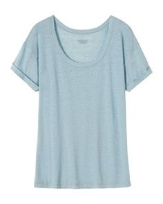 LINEN SCOOP NECK TEE by TOAST