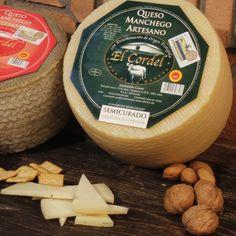 QUESOS EL CORDEL : El Cordel - Semi Mini 1,2 kg Queso Manchego, Dairy, 1, Cheese, Food, Raw Milk, Custard, Appetizers, Hay
