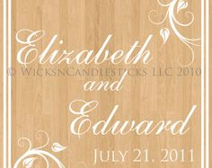 Wedding Dance Floor Decals Endless Elegance by WicksnCandlesticks