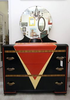 SALE!! Painted Deco Waterfall Dresser in Brooklyn, New York ~ Apartment Therapy $650