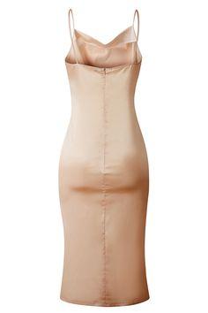 Sleeveless Open Back Plain Midi Dress Gold Bridesmaid Jewelry Sets, Gold Dress, Bodycon Dress, Dresses, Fashion, Gold Gown, Vestidos, Moda, Body Con